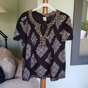 Anthropologie Beaded Blouse!